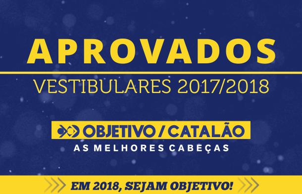 Lista de alunos do Colégio Objetivo aprovados nos vestibulares 2017/2018